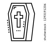 coffin also known as funeral... | Shutterstock .eps vector #1293191206