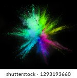 explosion of colored powder... | Shutterstock . vector #1293193660
