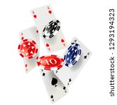 casino poker design template.... | Shutterstock .eps vector #1293194323