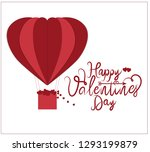 valentine day wallpaper with... | Shutterstock .eps vector #1293199879