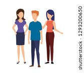 group of people characters   Shutterstock .eps vector #1293200650