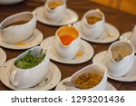 white cup for flavoring. | Shutterstock . vector #1293201436