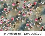Flower Allover Colour Pattern...