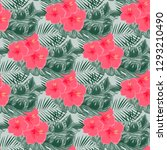 exotic seamless pattern with... | Shutterstock .eps vector #1293210490