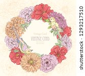 beautiful vintage card with... | Shutterstock . vector #1293217510
