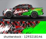 car decal sticker design vector.... | Shutterstock .eps vector #1293218146