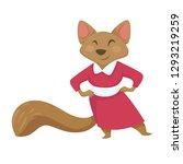 mouse in dress alice in...   Shutterstock .eps vector #1293219259