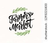 farmers market   hand drawn... | Shutterstock .eps vector #1293221833