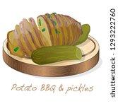 potato bbq vector illustration... | Shutterstock .eps vector #1293222760