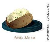 potato bbq vector illustration... | Shutterstock .eps vector #1293222763