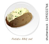 potato bbq vector illustration... | Shutterstock .eps vector #1293222766