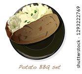 potato bbq vector illustration... | Shutterstock .eps vector #1293222769