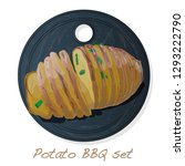 potato bbq vector illustration... | Shutterstock .eps vector #1293222790
