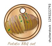 potato bbq vector illustration... | Shutterstock .eps vector #1293222793