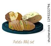 potato bbq vector illustration... | Shutterstock .eps vector #1293222796