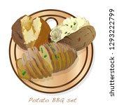 potato bbq vector illustration... | Shutterstock .eps vector #1293222799