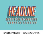 vector of stylized modern font... | Shutterstock .eps vector #1293222946