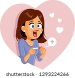 happy woman with positive... | Shutterstock .eps vector #1293224266