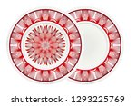 decorative round plate with... | Shutterstock .eps vector #1293225769