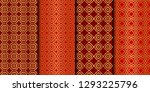 set of seamless pattern with... | Shutterstock .eps vector #1293225796