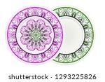 decorative plates with mandala... | Shutterstock .eps vector #1293225826