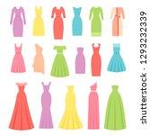 dress for women. vector.... | Shutterstock .eps vector #1293232339