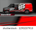 cargo van graphic vector.... | Shutterstock .eps vector #1293237913