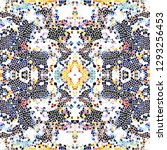 mosaic colorful pattern for... | Shutterstock . vector #1293256453
