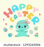 easter illustration  cute... | Shutterstock .eps vector #1293265006