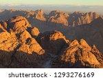 picturesque sunrise at sinai... | Shutterstock . vector #1293276169
