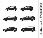 car vector silhouettes | Shutterstock .eps vector #1293280363