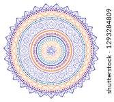 vector ethnic colorful mandala... | Shutterstock .eps vector #1293284809