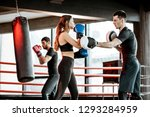 young woman training to box... | Shutterstock . vector #1293284959