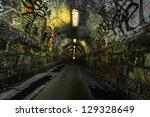 Urban Underground Tunnel  With...
