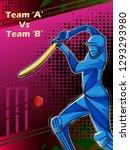 vector design of batsman player ... | Shutterstock .eps vector #1293293980