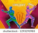 vector design of batsman player ... | Shutterstock .eps vector #1293293983
