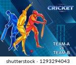 vector design of batsman player ... | Shutterstock .eps vector #1293294043