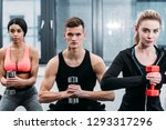 muscular young people training... | Shutterstock . vector #1293317296