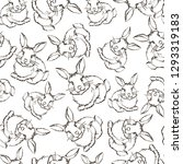 seamless pattern with hand... | Shutterstock .eps vector #1293319183