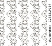 seamless pattern with hand... | Shutterstock .eps vector #1293319189
