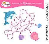 maze game for children. help... | Shutterstock .eps vector #1293319333