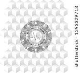 electrocardiogram icon inside... | Shutterstock .eps vector #1293329713