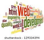 web development concept in word ...   Shutterstock . vector #129334394