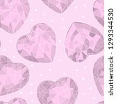 seamless pattern with crystal... | Shutterstock .eps vector #1293344530