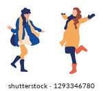 fashion girls are happy in...   Shutterstock .eps vector #1293346780