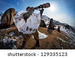 wildlife photographer outdoor... | Shutterstock . vector #129335123