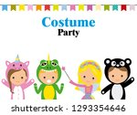 party card kids costume | Shutterstock .eps vector #1293354646