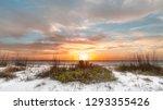 White Sand Beach At Sunset At...