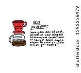 alternative coffee maker ... | Shutterstock .eps vector #1293356479