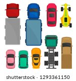 cars and trucks top view set ... | Shutterstock .eps vector #1293361150